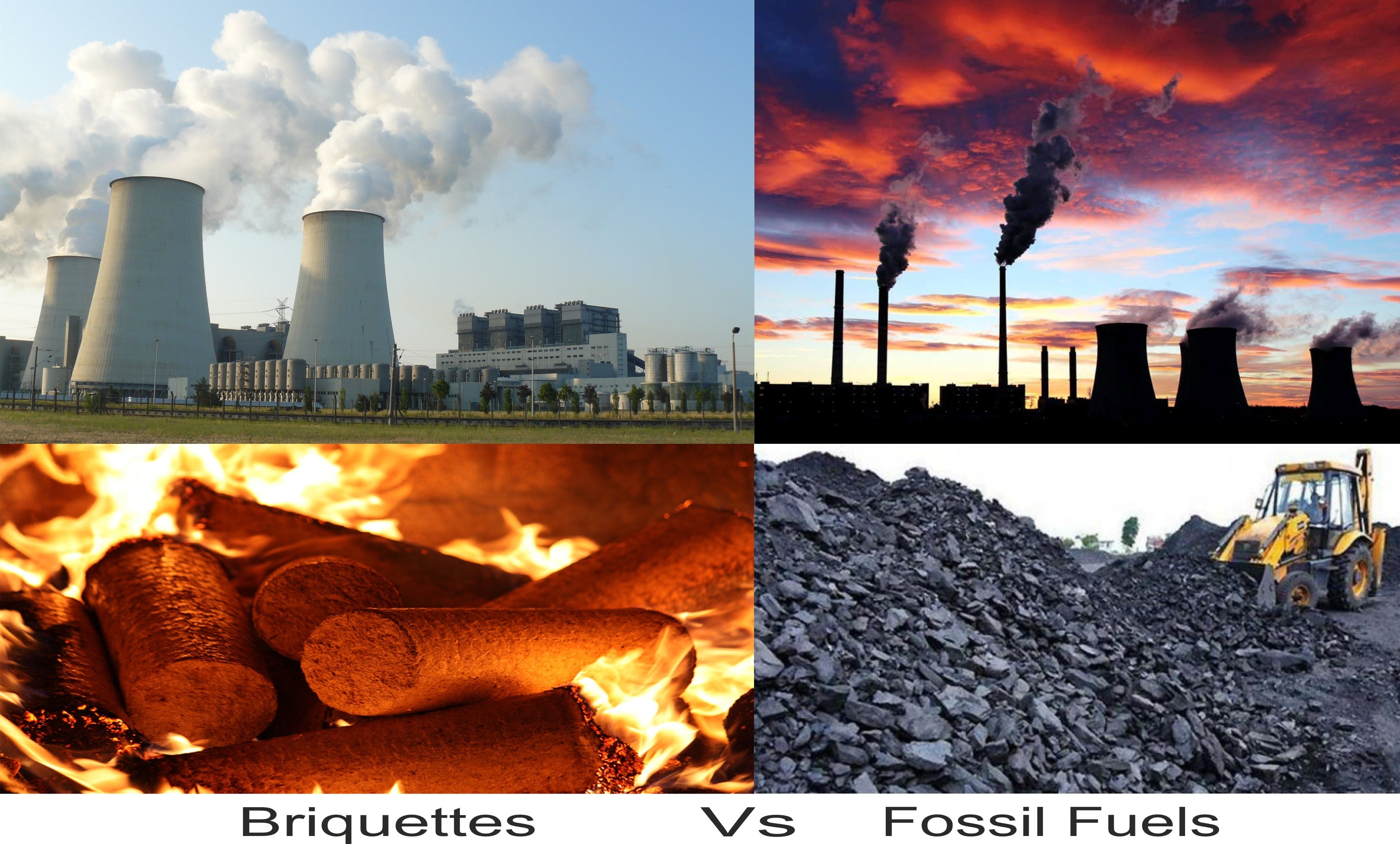 Briquettes with Fossil Fuels